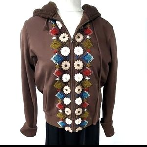 Lucky Brand Brown Hoodie Jacket Size XL